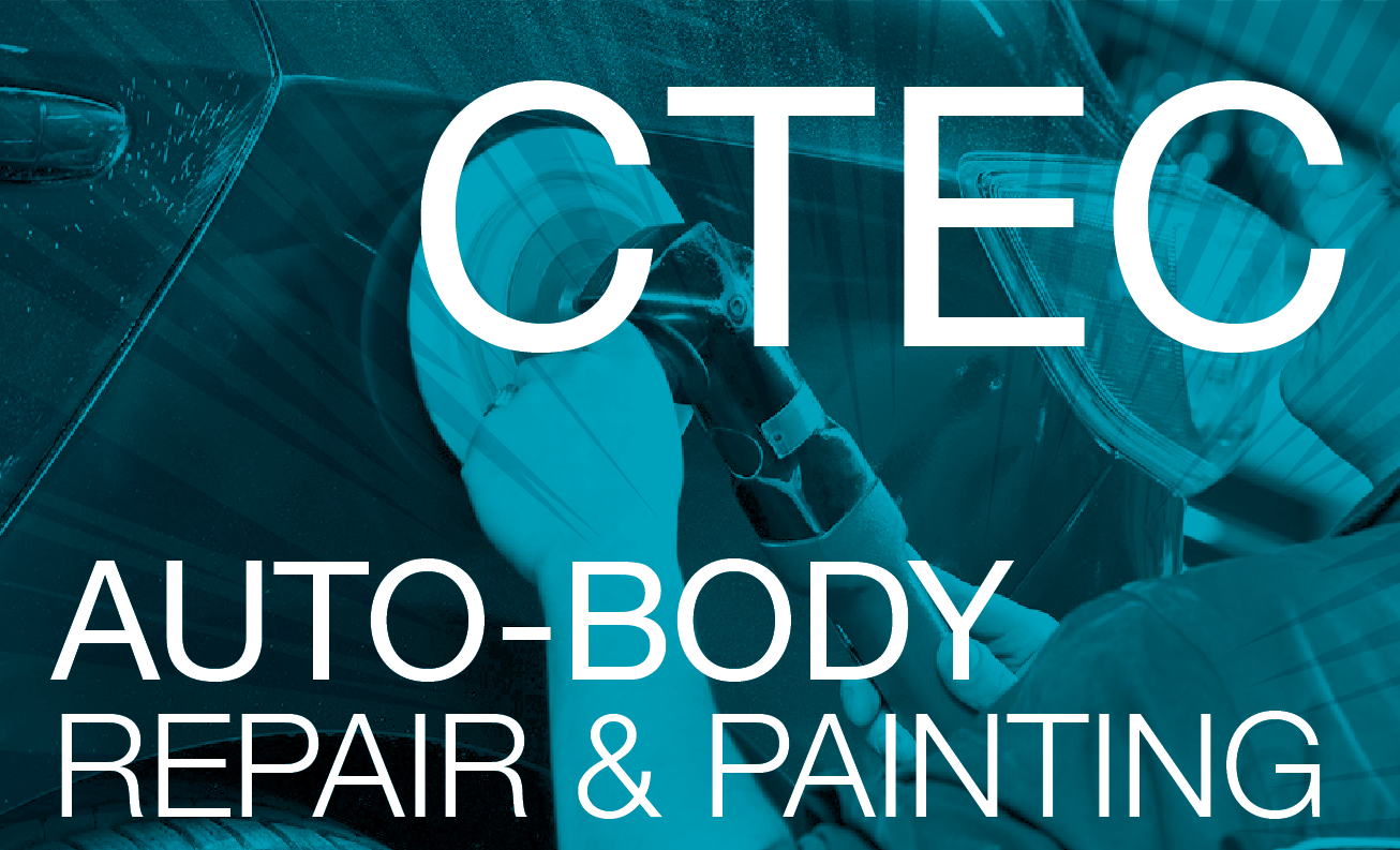CTEC Auto-body Repair & Painting - Cyan background