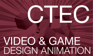 CTEC Video & Game Design Animation - Magenta Background