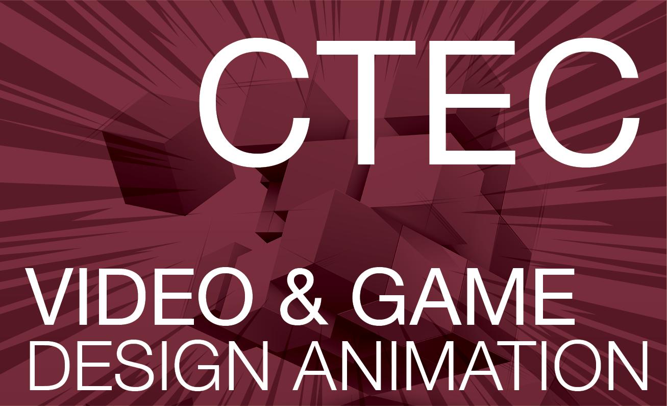 CTEC Video & Game Design Animation - Magenta Background
