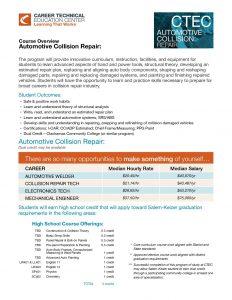 CTEC Course Overview: Automotive Collision Repair