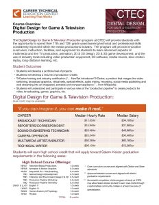 Course Overview: Digital Design for Game & Television Production